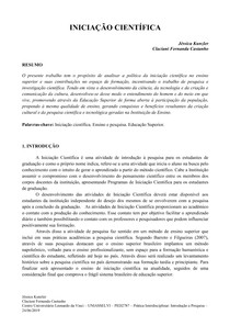 PAPER INICIAÇÃO CIENTIFICA