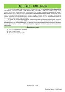 Caso clínico - Diarreia aguda
