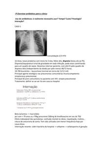 Casos clínicos - antibioticoterapia para o clínico