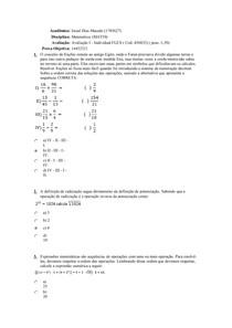 avaliaçao matematica