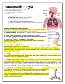 ANATOMOFISIOLOGIA    Sistema Respiratório