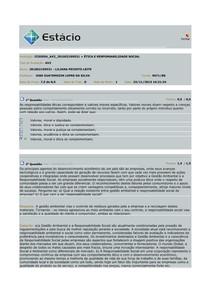 PROVA AV2 - ÉTICA E RESP. SOCIAL