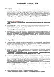 RESUMÃO AV3 - Epidemiologia