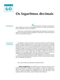 Aula 60 - os Logaritmos Decimais