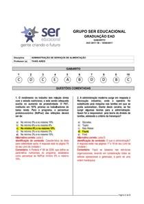 ADMINISTRAÇÃO DE SERVIÇOS DE ALIMENTAÇÃO - 4