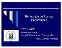 EQUIPAMENTOS PARA PERFURAÇÃO DE ROCHA