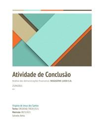 Análise de Passivos Contingentes, Investimentos em Controladas, Magazine Luiza S.A