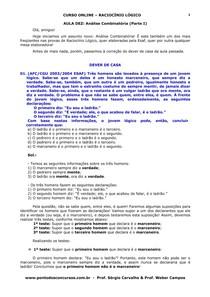 Aula 10   Analise Combinatoria Parte I