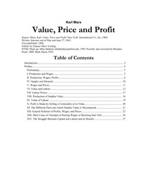 K. Marx_Value Price and Profit
