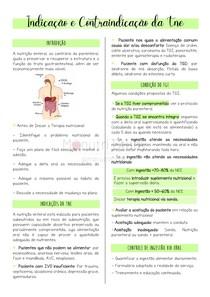 Indicações e contraindicações em terapia nutricional enteral