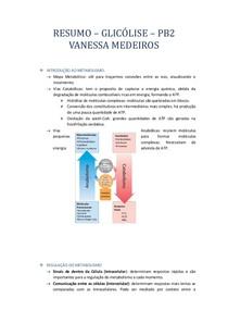 RESUMO   glicolise