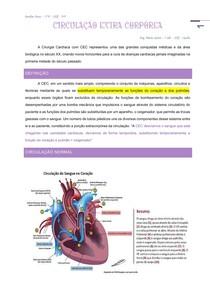 Transcrição da aula de Clinica Cirurgica - sub: Vascular =Circulação extracorporea - prof Antonio Osman 2021