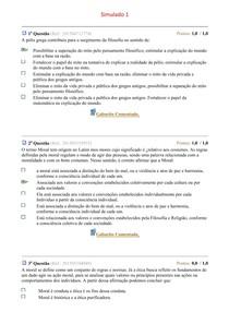 Simulados 01 a 03 - Filosofia e Ética