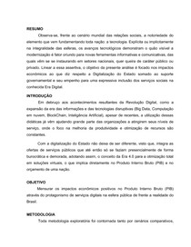 TCC - Digitalização do Estado