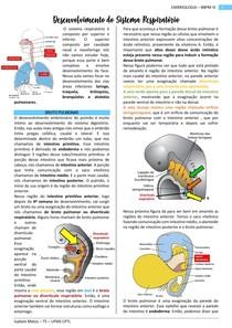 Embriologia - Desenvolvimento do Sistema Respiratorio