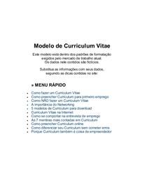 Modelo De Curriculum Primeiro Emprego Download Word Me