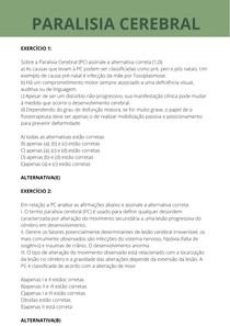 EXERCÍCIOS PARALISIA CEREBRAL - UNIP