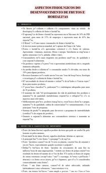 ASPECTOS FISIOLÓGICOS DO DESENVOLVIMENTO DE FRUTOS E HORTALIÇAS