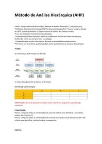 Método de Análise Hierárquica AHP