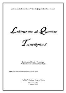 Apostila de Química Tecnológica I 1 2013 site