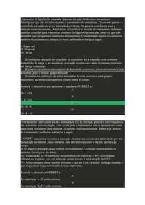 Atividades Físicas em Academias e Empresas (BEF02) AVALIAÇÃO 1