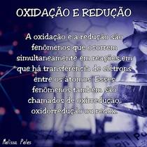 Oxidação e Redução