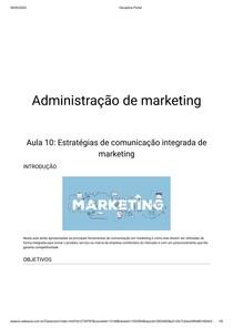 Aula 10: Estratégias de comunicação integrada de marketing