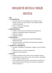 ANESTESIO - mpa, indução, inalatória e dissociativa