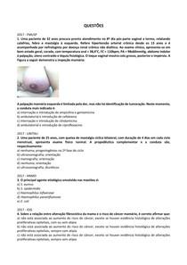 Doenças benignas da mama - Questões resolvidas