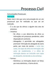 COMUNICAÇOES PROCESSUAIS- INTIMAÇAO