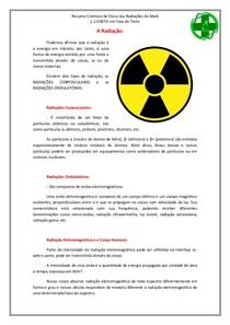 Resumo Radiação Ionizante e Eletromagnética