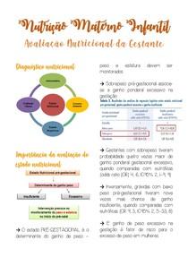 Gestantes - avaliação nutricional