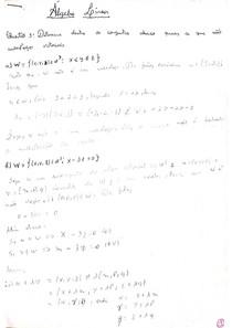 Questões resolvidas álgebra linear - segundo estágio