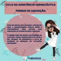 FORMAS DE AQUISIÇÃO- CICLO DA ASSISTÊNCIA FARMACÊUTICA