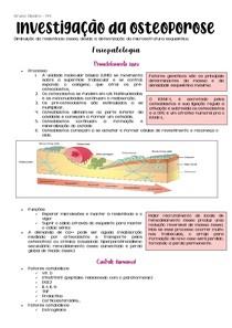 Investigação da osteoporose (resumo)