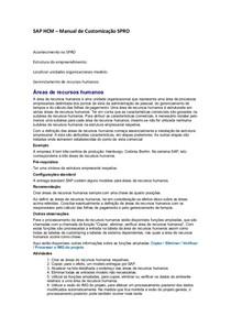 Sap Hcm Manual De Customizacao Curso Sap 25