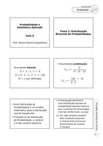 A5   GPI   Probabilidade e Estatística Aplicada   Prof. Nelson