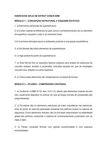 EXERCÍCIOS APLIC DE ESTRUT CONCR ARM