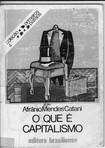 O que é Capitalismo - Afrânio Mendes Catani