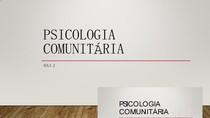 AULA 2 - PSICOLOGIA COMUNITÁRIA - RELAÇOES COMUNITÁRIAS