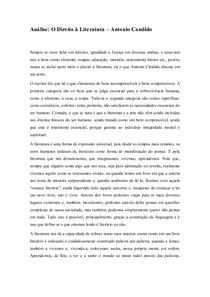 Reflexão - Direito à Literatura