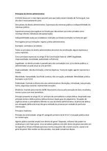Princípios do direito administrativo e poder administrativo