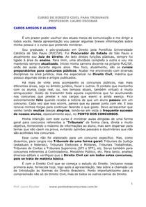 Curso de Direito Civil - Lauro Escobar - apostila