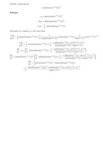 Cálculo de uma derivada