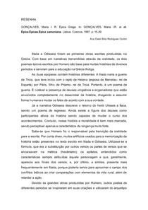 ÉPICA GREGA- RESENHA CONCLUÍDA