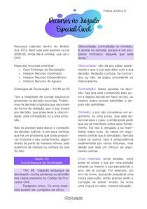 Prática Jurídica IV - Recursos no Juizado Especial Cível