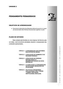 pensamento pedagogico  historia dos sistemas educacionais no Brasil