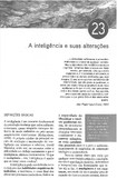 A Inteligência e suas alterações   DALGALARRONDO