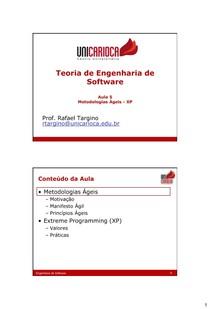 [05] EngSW - Métodos Ágeis - XP v1 6
