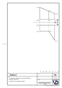 Exemplo de P2 Geometria Descritiva 2 UFRGS Prof. Fábio Gonçalves Teixeira